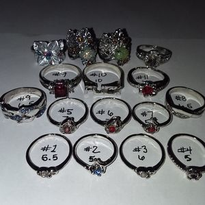 💍 Bunches of Cute Silver Fashion Rings!